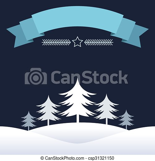 Blue Christmas design with ribbon - csp31321150