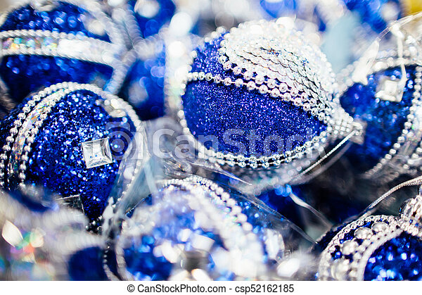 Blue Christmas ornament - csp52162185