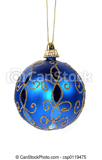 Blue Christmas Ornament - csp0119475