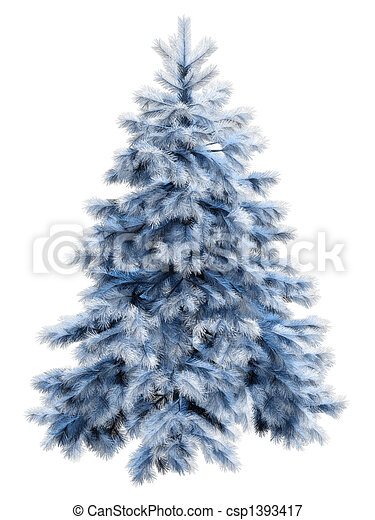 blue christmas tree with csp1393417