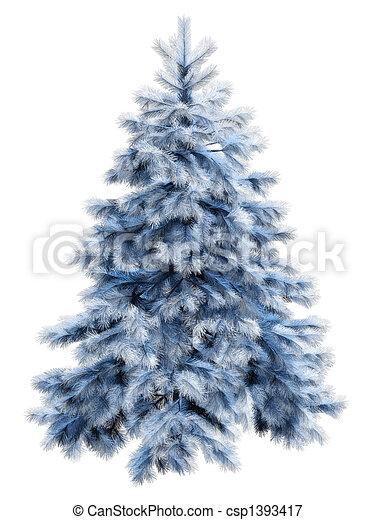 blue christmas tree with csp1393417 - Blue Spruce Christmas Tree