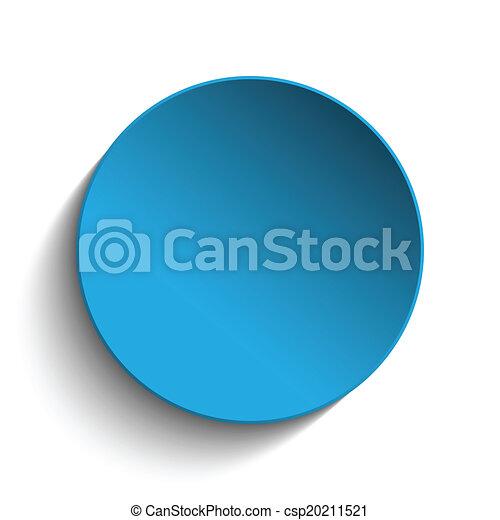 Blue Circle Button on White Background - csp20211521