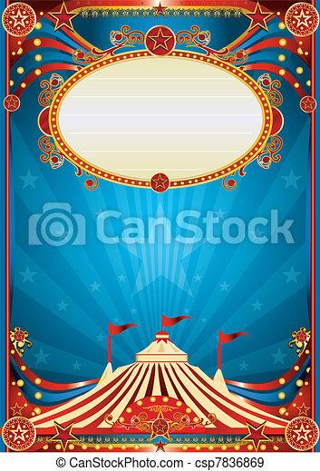 Blue circus background - csp7836869