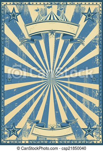 Blue circus retro - csp21850040