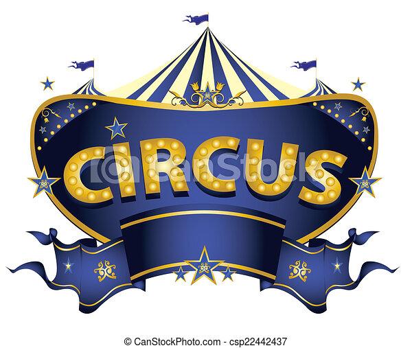 Blue circus sign - csp22442437