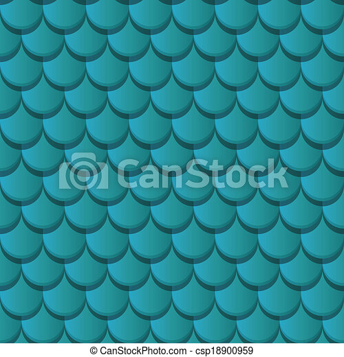 Blue clay roof tiles - csp18900959