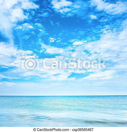 Blue clear sea and sky - csp36565467