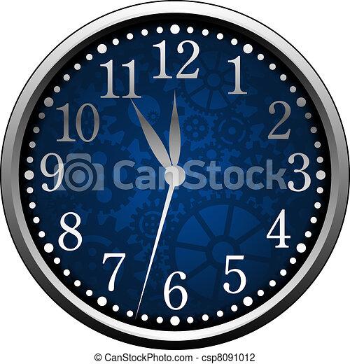 Blue Clock - csp8091012