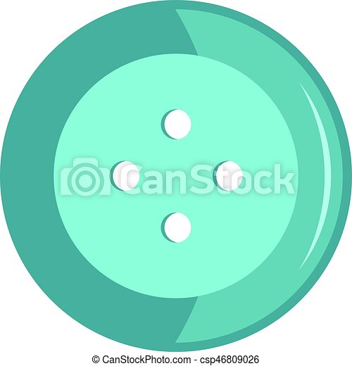 Blue clothing button icon isolated - csp46809026