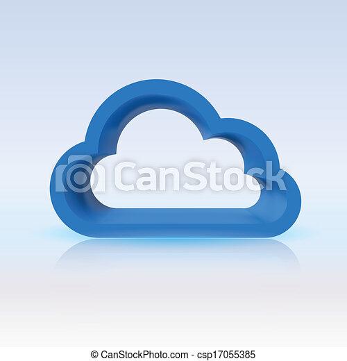 Blue cloud, digital concept for your design - csp17055385