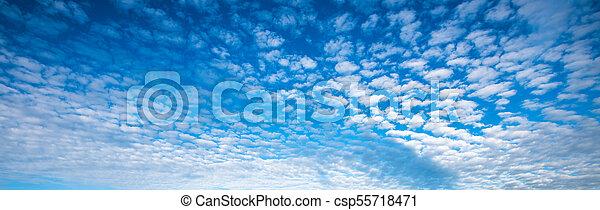 blue cloudy sky panorama - csp55718471