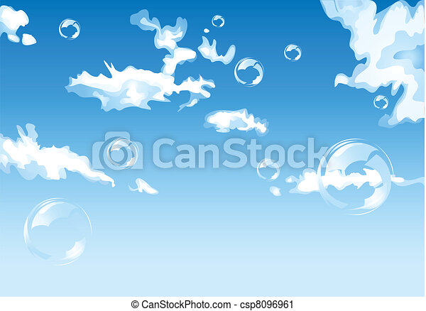 Blue cloudy sky - csp8096961
