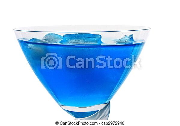 Blue cocktail closeup - csp2972940