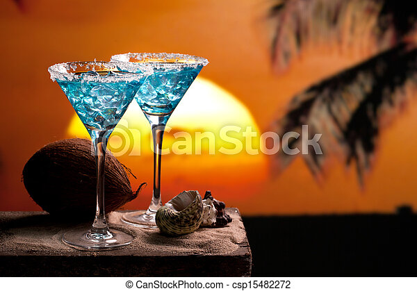Blue Cocktail Drink - csp15482272
