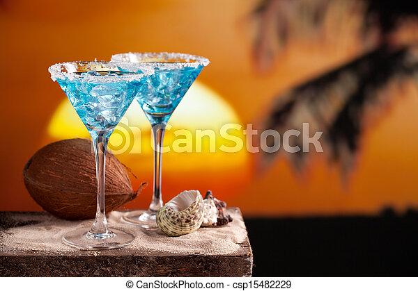 Blue Cocktail Drink - csp15482229