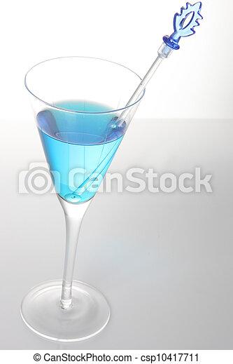 Blue cocktail - csp10417711