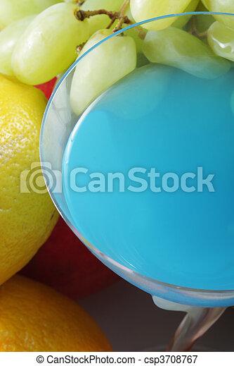 Blue cocktail - csp3708767