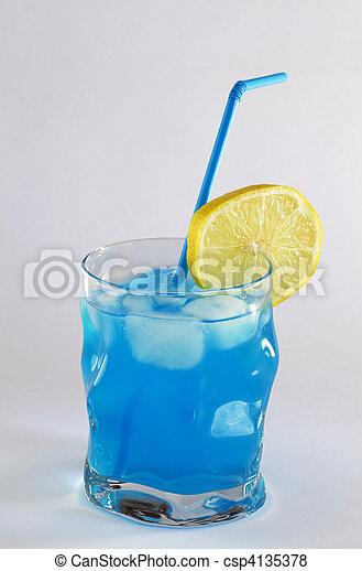 Blue cocktail - csp4135378