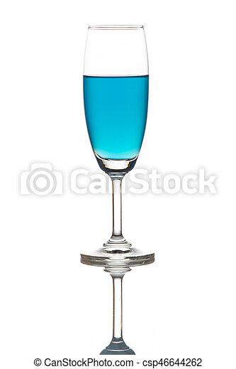 Blue cocktail - csp46644262