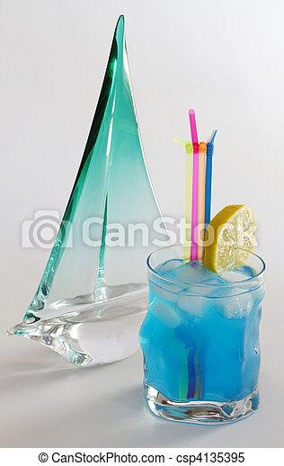 Blue cocktail - csp4135395
