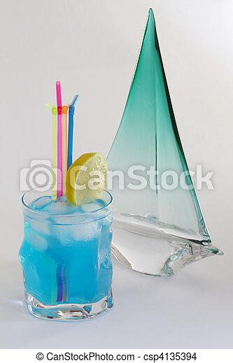 Blue cocktail - csp4135394