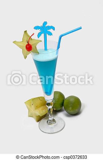 Blue cocktail - csp0372633