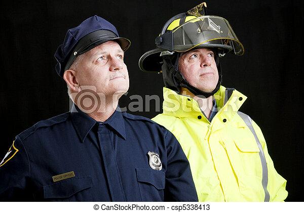 Blue Collar Heroes - csp5338413