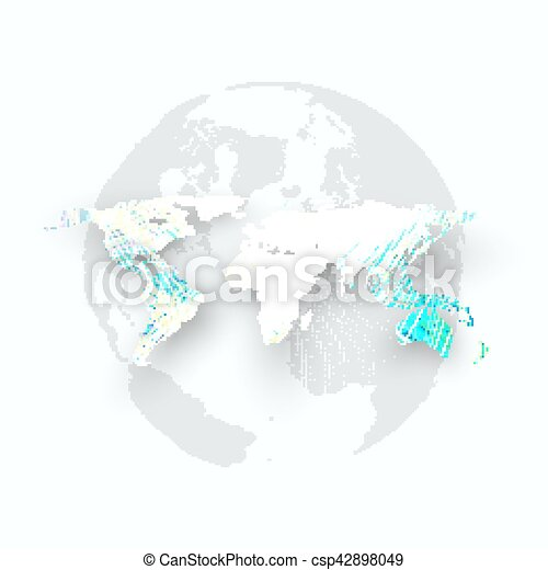 Blue color background with world map shadow abstract waves lines blue color background with world map shadow abstract waves lines curves motion design vector gumiabroncs Images