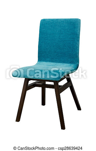 Blue color chair isolated on white - csp28639424