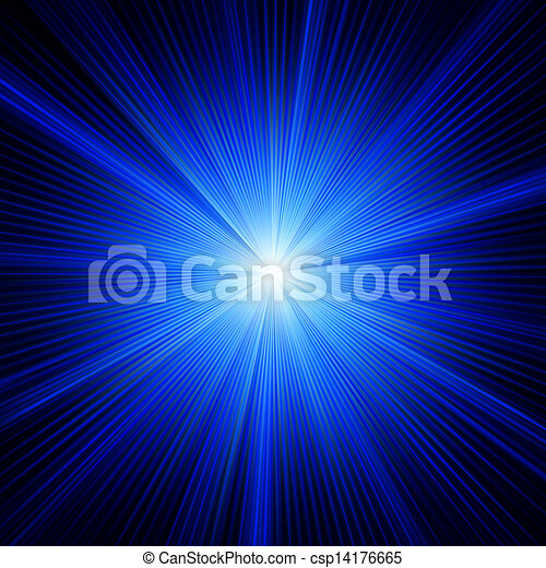 Blue color design with a burst. EPS 8 - csp14176665