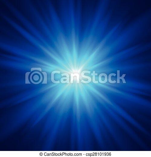 Blue color design with a burst. Vector illustration - csp28101936