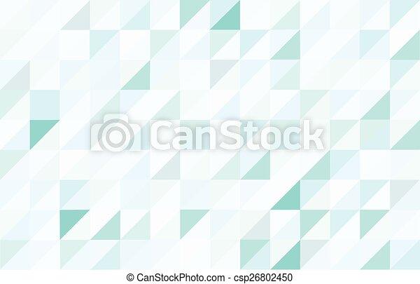 Blue colored triangular pattern background - csp26802450