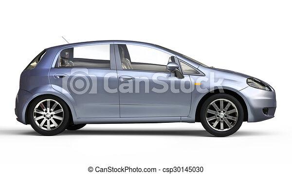 Blue Compact Car - csp30145030