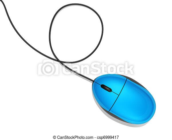 blue computer mouse - csp6999417