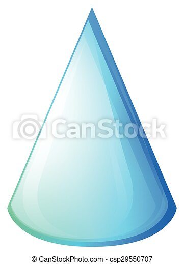Blue cone on white - csp29550707