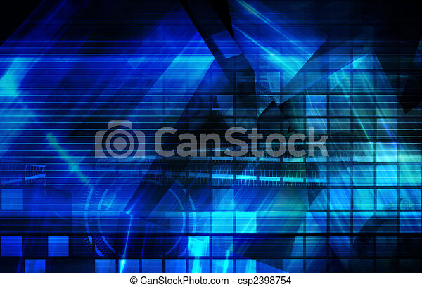 Blue Corporate Background - csp2398754