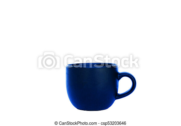 Blue cup Isolated on white backgrounds - csp53203646