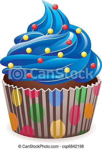blue cupcake - csp6842198