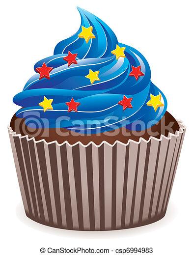 blue cupcake  - csp6994983
