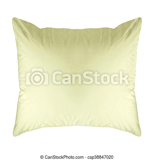 Blue cushion isolated on white - csp38847020
