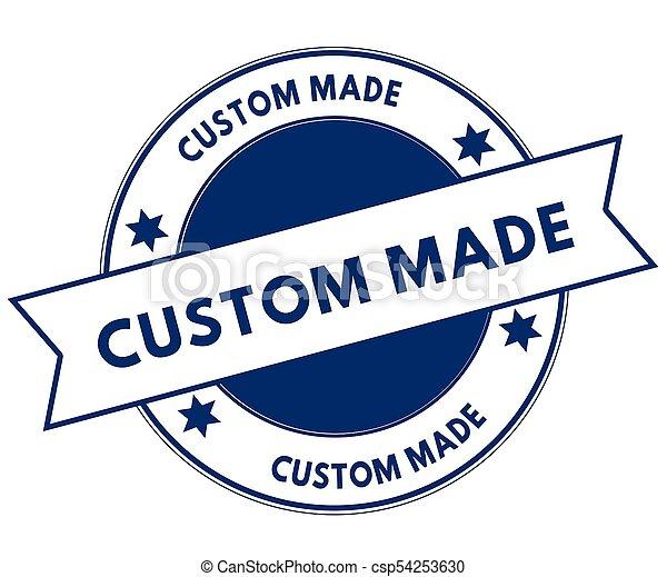 Blue custom made stamp csp54253630