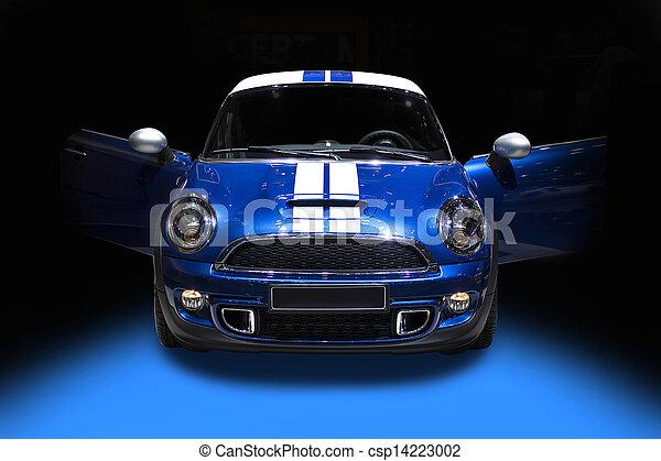 Blue cute sport car isolated - csp14223002