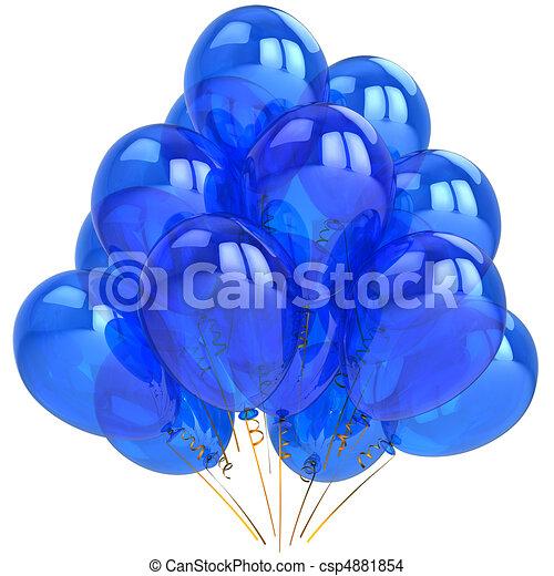 Blue Cyan Birthday Balloons
