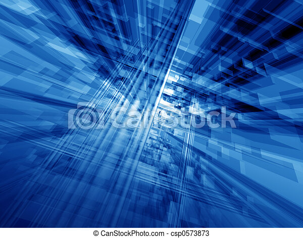 Blue cyberspace - csp0573873