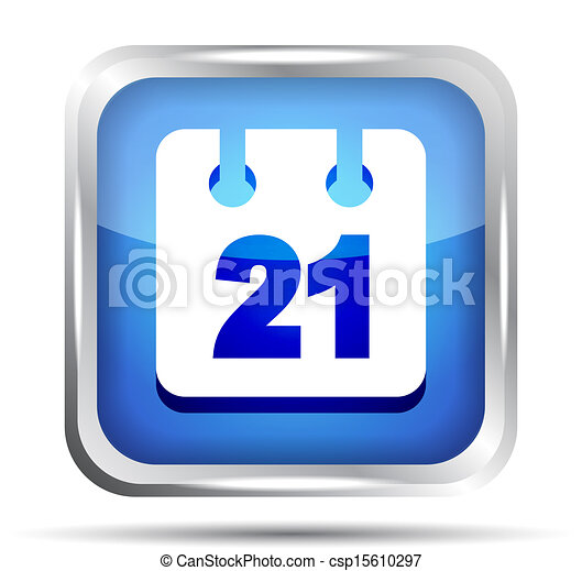 blue date icon on a white background - csp15610297