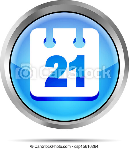 blue date icon on white background - csp15610264