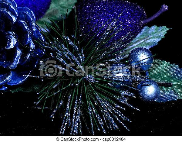 Blue Decorations - csp0012404