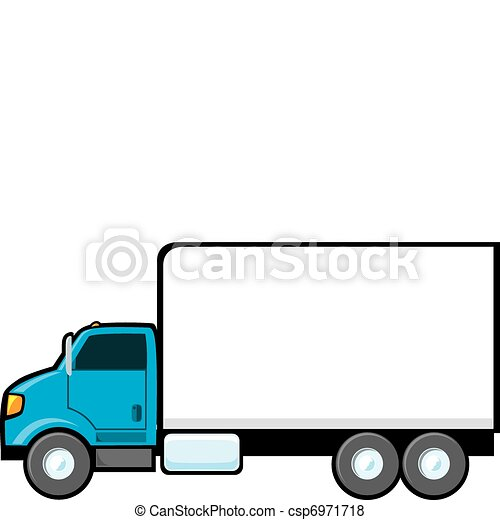 Blue Delivery Truck - csp6971718