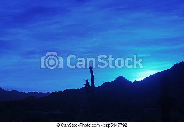 Blue Desert Sunrise - csp5447792