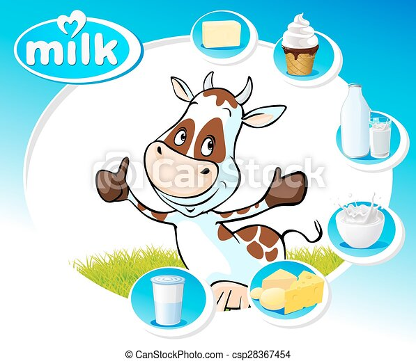 blue design with dairy products and - csp28367454